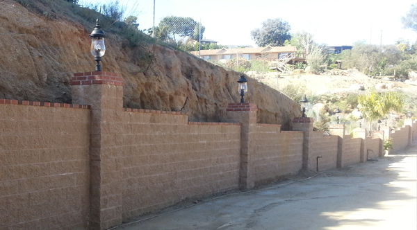 Block-Retaining-Wall-With-Brick